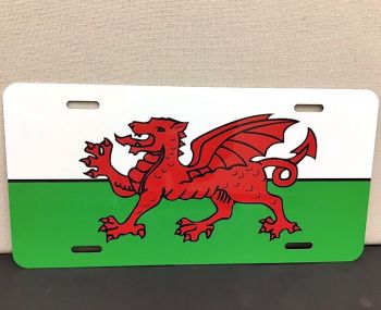 Wales Banner License Plate Bike Metal Craft Souvenir Gift Name Sign