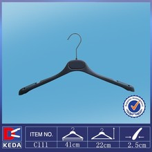 black plastic hangers factory supply 2016new model plastic clothes hanger