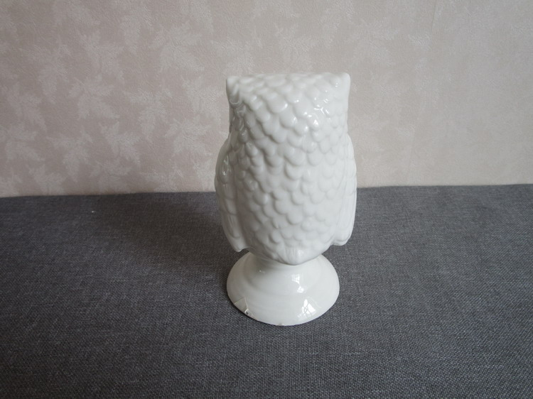 New design white art ceramic owl for sale