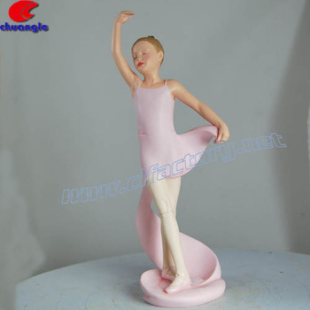 Decorative Dancing Polystone Girl Figure
