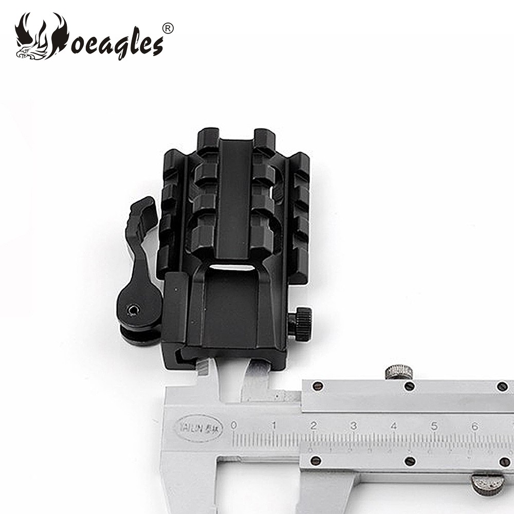 Oeagles Y0037D QD Tri Sides Exntend Picatinny Rail With 21mm Rail Weaver Hunting Accessories Gun Scope/ Flashlight Mounts