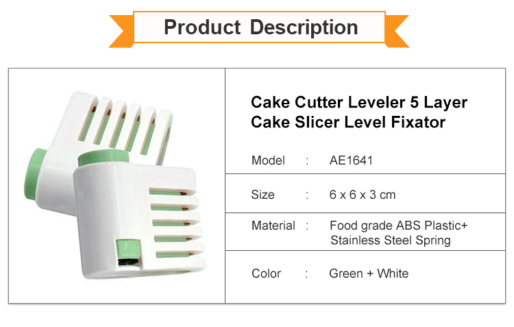 Adjustable Cake Slicer Fixator 5 Layer Cutter Leveler