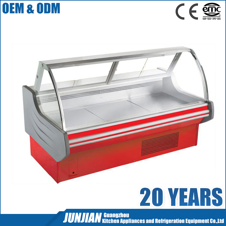 Fresh meat showcase / refrigerator meat display chiller / commercial display cake refrigerator showcase