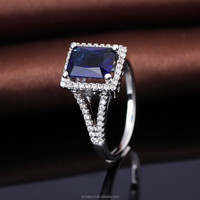 Blue Stone 925 Silver Jewelry Model tanzanite ring Design with Gems