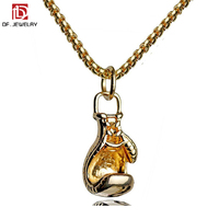High Quality Fashion Metal Fitness Boxing Gloves Pendant Necklace Jewelry for Men