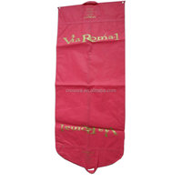 Newest custom foldable recycled garment bags non woven