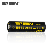 High quality BASEN 18650 2500mah lithium ion battery cell 3.7v for box mod