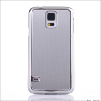 Metal Aluminum Skin and Chrome PC Hard case for samsung galaxy S5