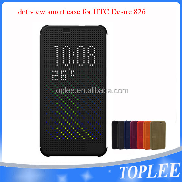Silicone Smart Matrix Dot View Flip Case Cover For HTC Desire 826