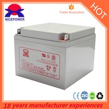 deep cycle solar battery AGM 12v 24ah silicon gel battery price