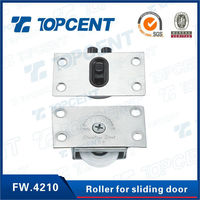 plastic and stainless steel caster wheel triple sliding closet door roller