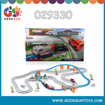 B/O track cars plastic roller coaster toy for children battery operated track cars kids small toy cars for kids 029330