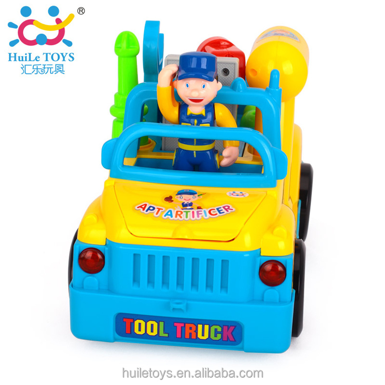 Huile toys plastic battery operated mini truck toy