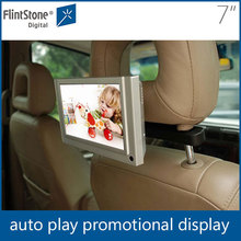 7 inch tft lcd car monitor taxi headrest LCD advertising player