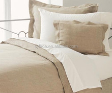 hotel bed sheet uses super soft comfortable cotton linen fabric