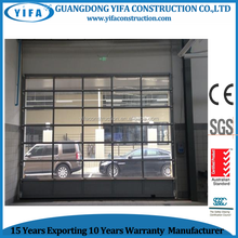Garage position and garage doors type automatic glass door