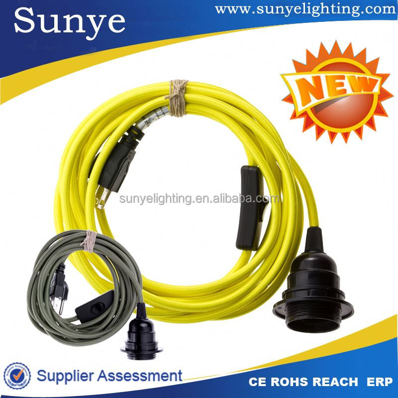 High quality electrical wire with switch and plug ass plug