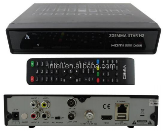 New arrival ! DVB-S2+T2 enigma2 digital satellite+ terrestrial comber receiver zgemma H2 original software