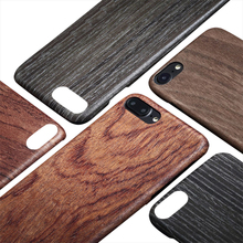 Showkoo natural original real wooden hand carved wood case for IPhone 8 7S PLUS