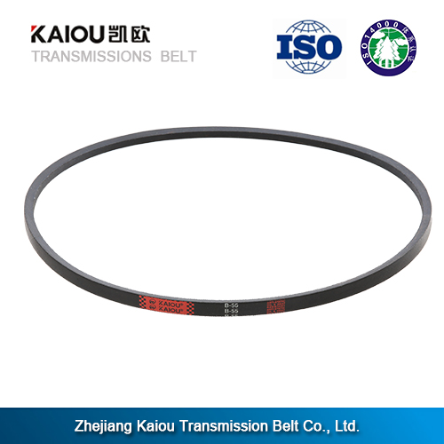 China famous brand universal three v-belt, running belt with material NR 30%