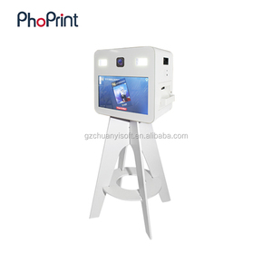 2018 New Commercial Used Photo Kiosk Green Screen Photo Booth Printing Machine