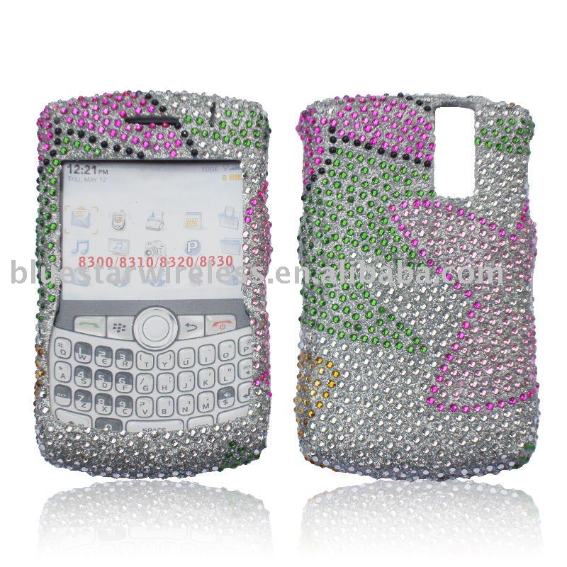 Hard case with rhinston case for blackberry 8300(we can make any image with diamond on the mobile phone case)