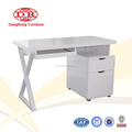 Wooden office table design with high gloss painting