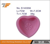 Love muffin cups Heart shape silicone cake mould jelly pudding