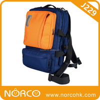 OEM Branded laptop briefcase, nylon/900D PU backpack