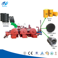 Continuous process fully automatic continuous waste tyre pyrolysis plant