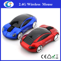White Wireless Car Shape Mouse With Logo