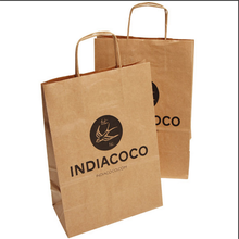 Custom Food grade Brown Kraft Paper Coffee Takeaway Packaging Paper Bags