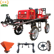 Agricultural high clearance diesel engine power sprayer for corn rice