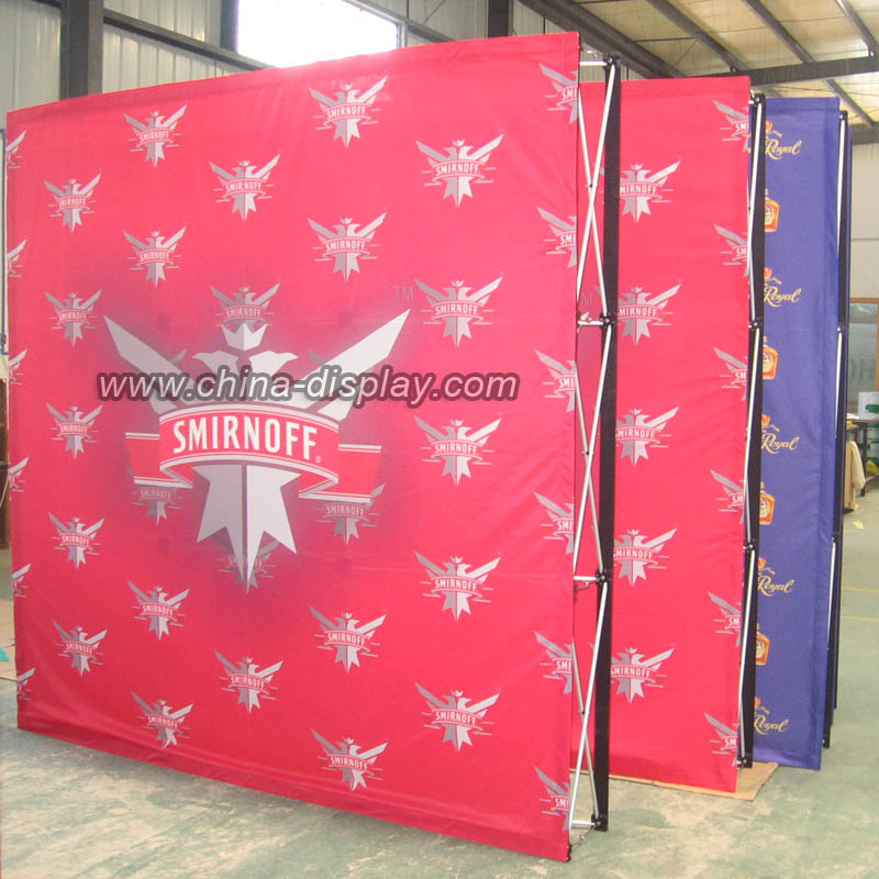 Easy install Aluminum frame Structure 20ft fabric pop up stand display
