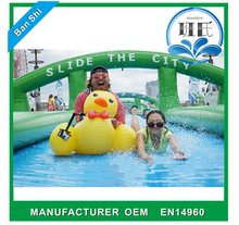 Latest design giant inflatable city, giant slip and slide, inflatable water slip & slide