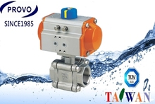 3-PC reduced bore 2000WOG stainless steel ball valve