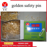 Wholesale bulk 19mm golden safety pin for clothing hangtags
