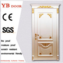 eco-friendly popular pure wooden double doors super designs in india YBVD 6164