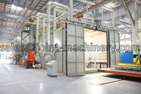 high quality automatic air sand blast room /abrasive blasting cabinet for metal parts