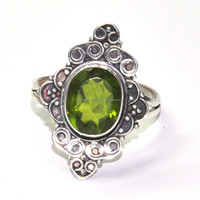 Peridot hydro Most popular style silver jewelry Ring, Attractive silver jewelry