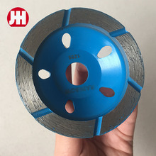 China High Performance 150mm stone polishing diamond grinding cup wheel