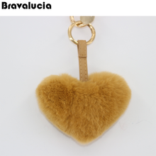 hot selling multi colored fur keychain, sweet heart keychain, beautiful decoration for firls
