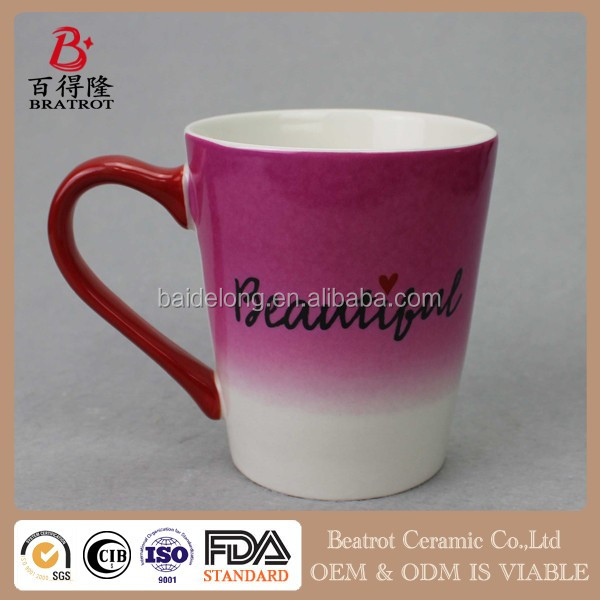 Beatrot Ceramic ceramic cup Assorted color promotional ceramic mug cup,