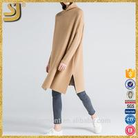 Ladies western design round neck medium length autumn women sweater dress