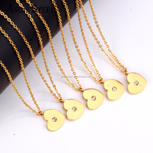 Stainless Steel Collar Necklace Gold-plated Heart Necklace Chokers