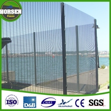 high security fence galfan welded wire mesh fence panel 358 fence panel