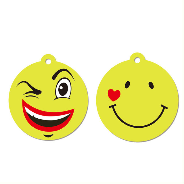2018 New Products Custom Emoji Face Hanging Car freshener Paper Air Fresheners