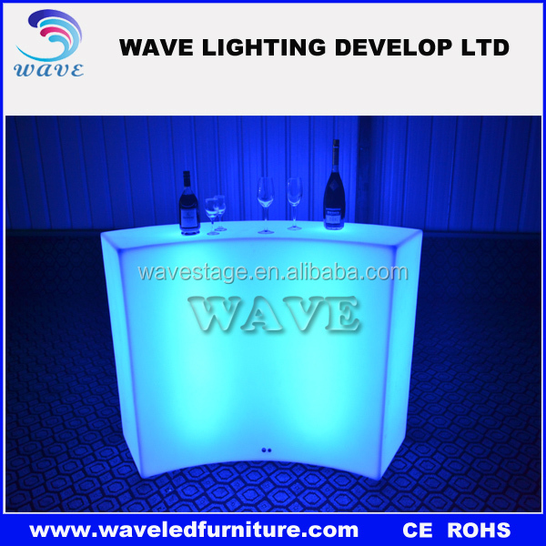 Led luminous small bar counter designs/modern bar counter for home party