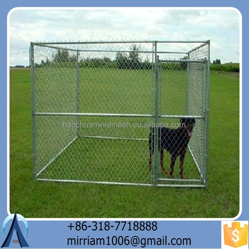 2015 Anti-rust and Durable Manufacturer wholesale welded wire mesh Galvanized Welded Dog Cages and Chain Link Dog Cages