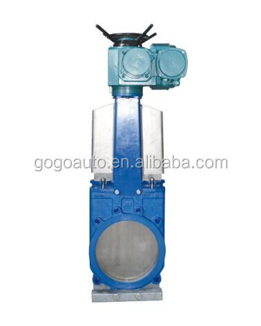 Electrical knife gate valve and globe valve gate valve lockout
